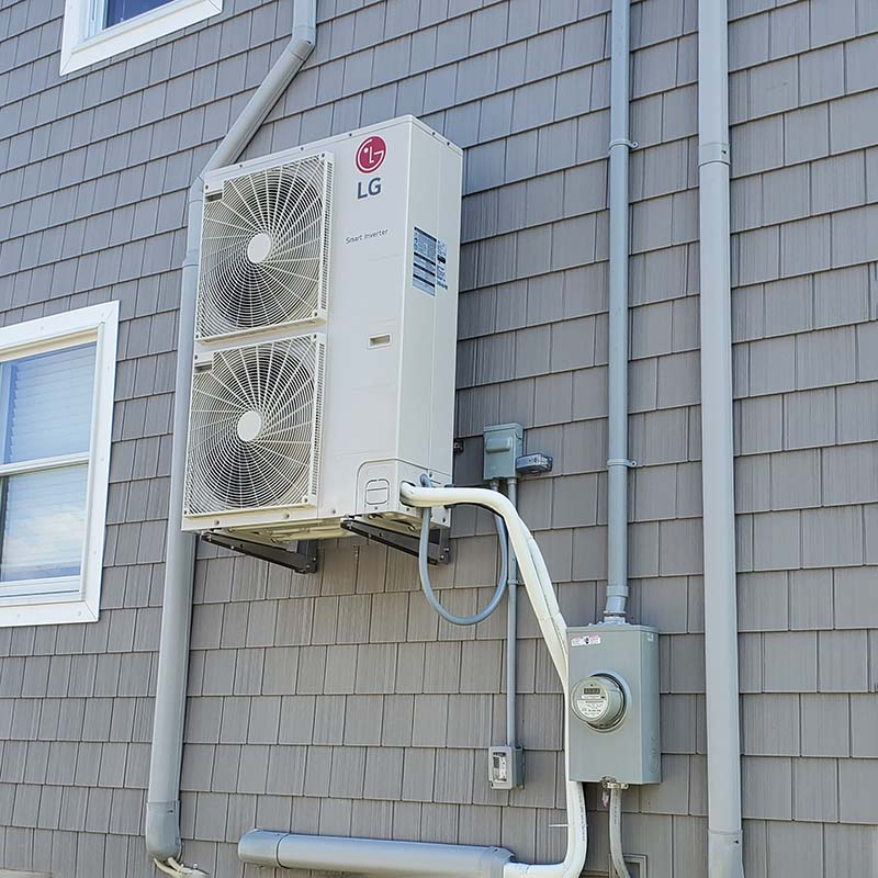 Ductless Mini-Split AC Outdoor Unit Installed by Benvenuti Oil in CT