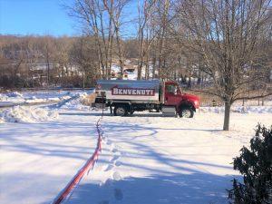 Oil truck in the winter
